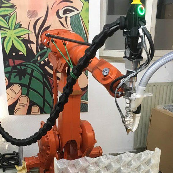 Roboter und Extruder
